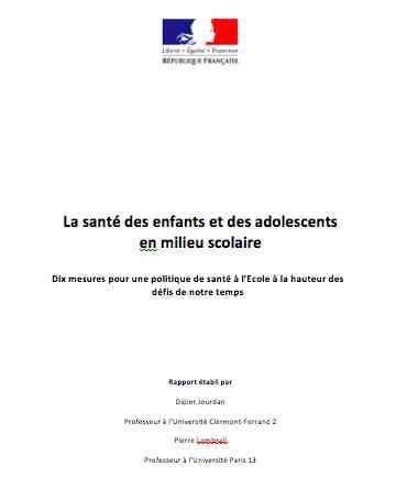 Santé des enfants et des adolescents en milieu scolaire