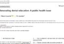 L'article «Renovating dental education: A public health issue» vient d'être publié