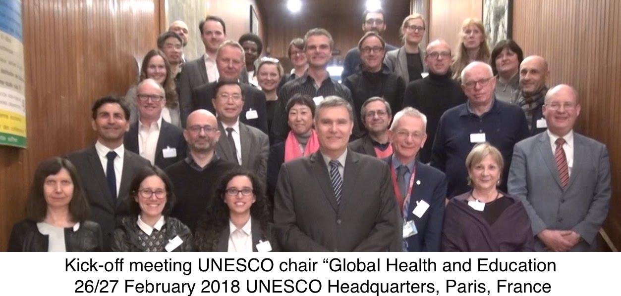 The kick-off meeting UNESCO chair 'Global Health & Education' was held in UNESCO headquarters in Paris