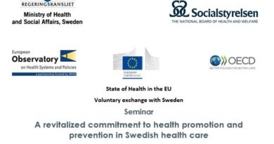 Séminaire « A revitalized commitment to health promotion and prevention in Swedish health care »