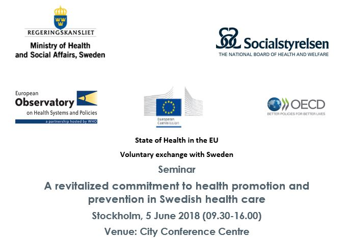 Séminaire «A revitalized commitment to health promotion and prevention in Swedish health care»