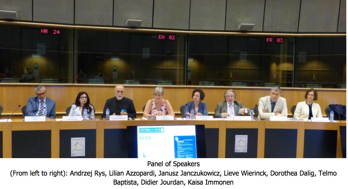 Séminaire «Interprofessional Education: Α way to transform tomorrow's healthcare!» au parlement européen de Bruxelles