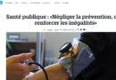 Tribune «Négliger la prévention, c'est renforcer les inégalités»