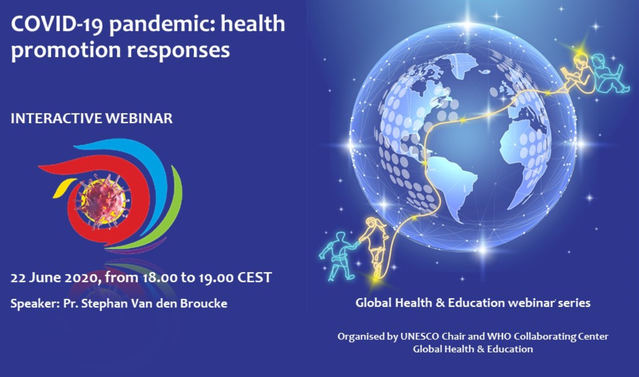 "Webinar ""Health Promotion Responses to the COVID-19 Pandemic"" on 22 June 2020"