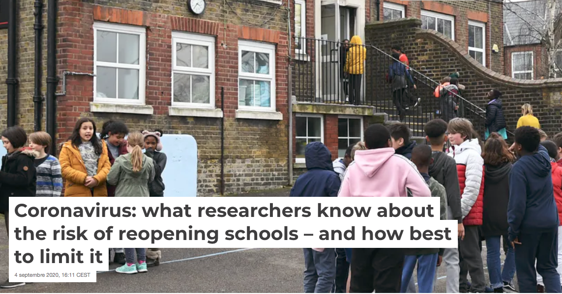Coronavirus: what we know about the risk of reopening schools – and how best to limit it