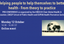 "Pré-conférence ""Helping people to help themselves to better health – From theory to practice"", 12 octobre 2020, Congrès Mondial de Santé Publique"
