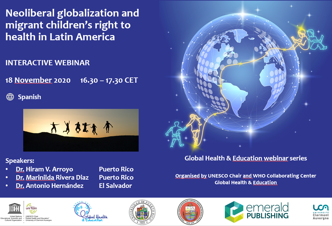 Webinar 18 November: Neoliberal globalization and migrant children's right to health in Latin America