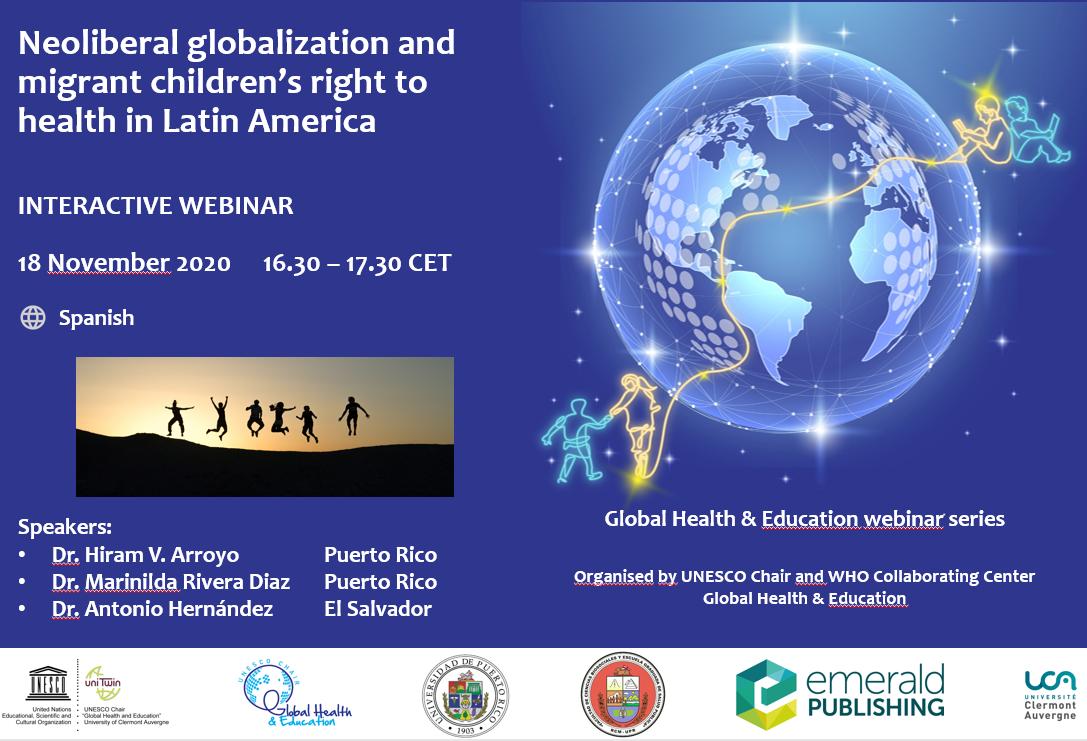 Webinar 18 November: Neoliberal globalization and migrant children's right to health in Latin America