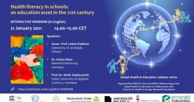 Webinar: Health literacy in schools: an education asset in the 21st century