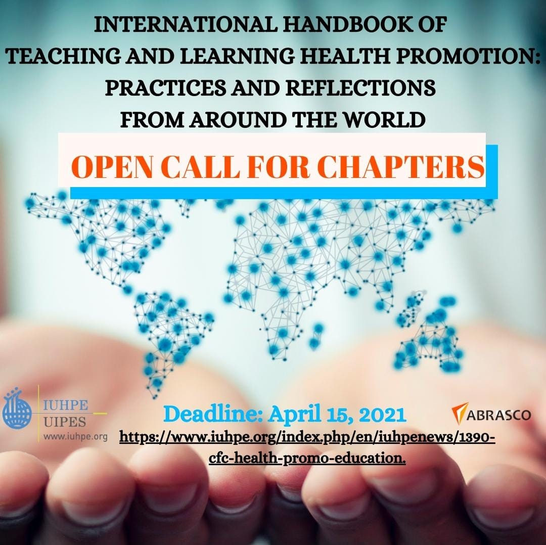 Call for Chapters International handbook of teaching and learning health promotion: practices and reflections from around the world