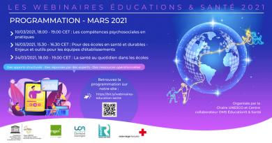 Webinaires Éducations & Santé – Programmation de mars