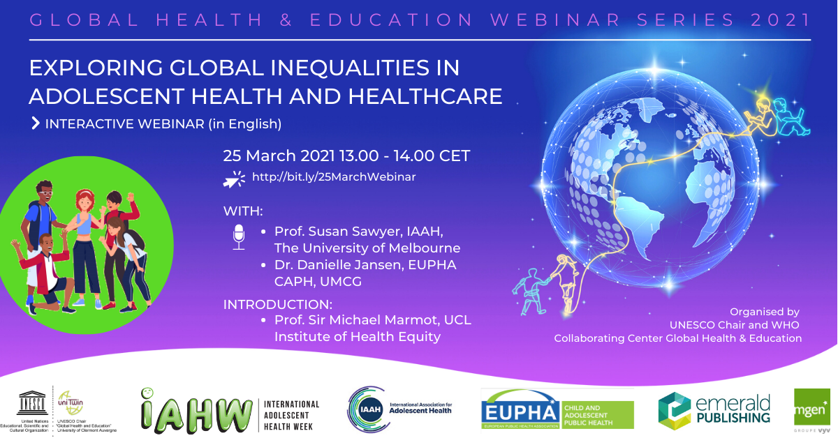 Webinar – Exploring Global Inequalities in Adolescent Health and Healthcare