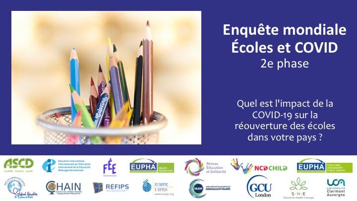 L'enquête Écoles et COVID est maintenant disponible en 6 langues !