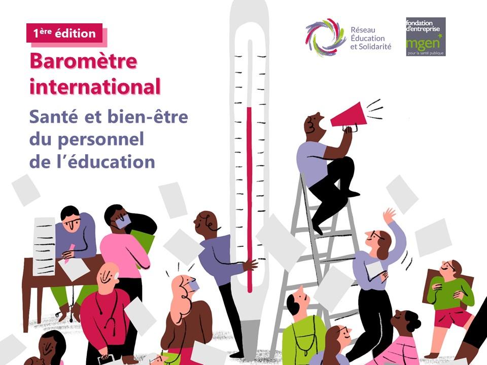 Baromètre International de la Santé et du bien-être du personnel de l'éducation : lancement de l'enquête dans 6 pays d'Europe, d'Afrique et d'Amérique