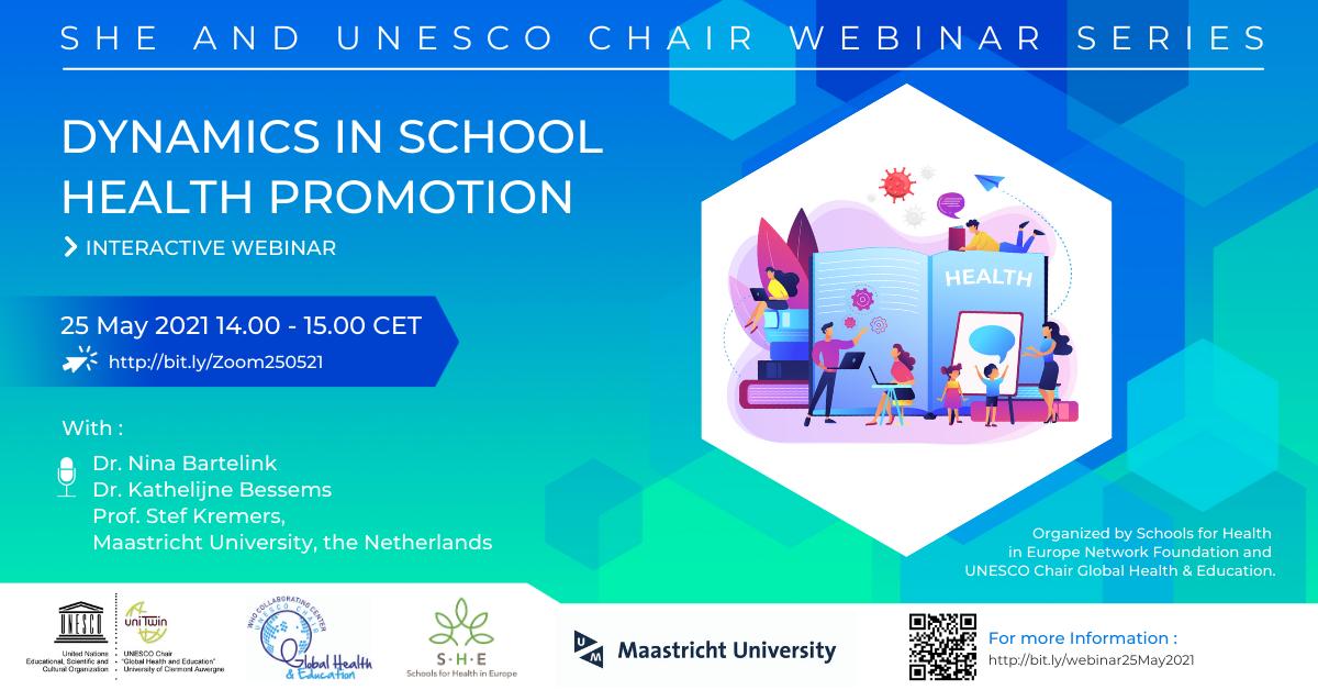 Webinar Dynamics in School Health Promotion – 25 May 2021 14.00 CEST
