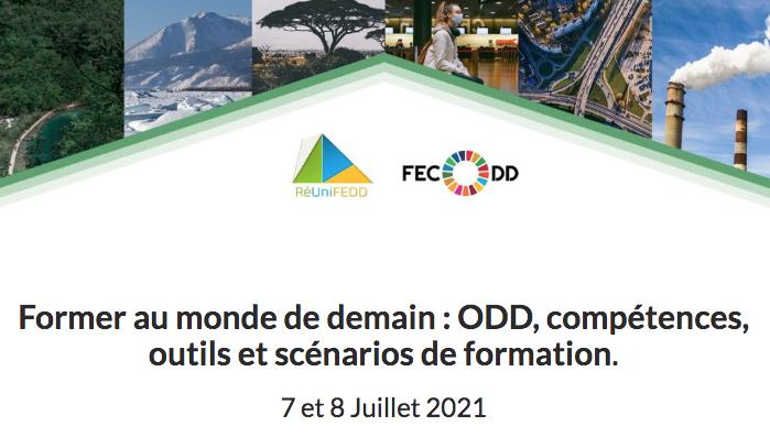 Appel à communication – FECODD – Former au monde de demain : ODD, compétences, outils et scénarios de formation, 7 et 8 juillet 2021 – COLLOQUE À DISTANCE