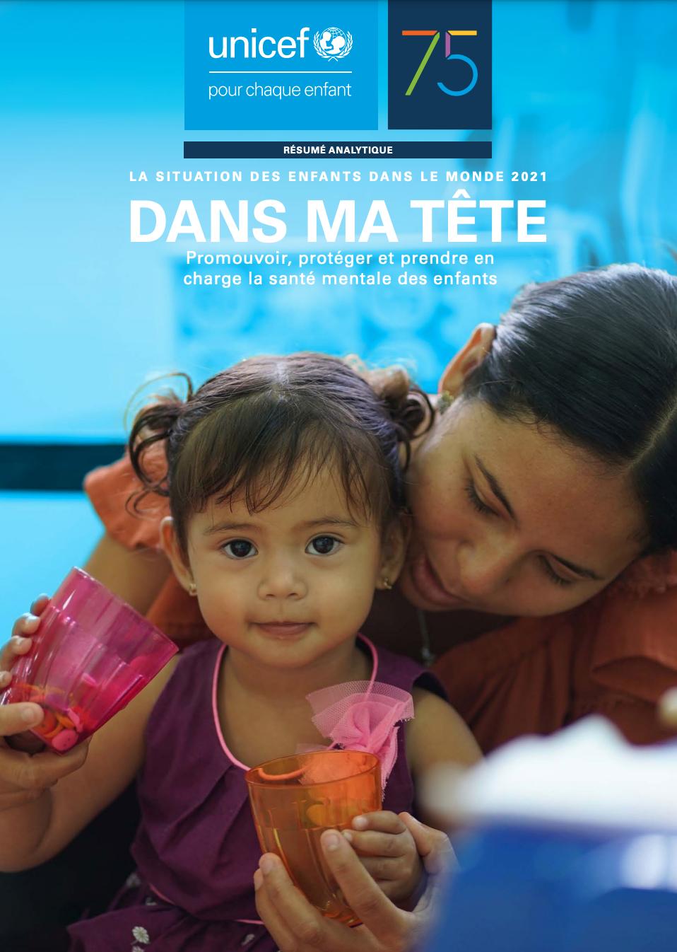 Rapport de l'UNICEF – La situation des enfants dans le monde 2021