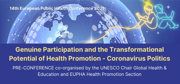 Pré-conférence en ligne – Participation réelle et pouvoir transformatif de la promotion de la santé – 10 novembre 2021
